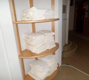 Immer frische Badetücher Hotel Katschberghof