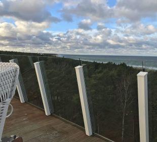 Blick von der Dachterasse nach Westen Strandhotel Fischland