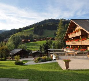 Blick aus dem Garten... Romantik Hotel Hornberg
