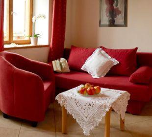 Gemütliche Sitzecken wie zu Hause Appartement & Weingut Linter