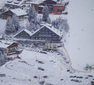 Blick von der Piste Hotel Lamark