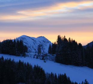 Sonnenuntergang vom Balkon aus Landhaus Wildschütz