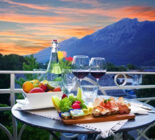 Abendstimmung am Balkon Hotel Villa Rein