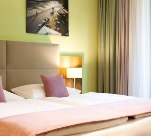 Standardzimmer mit Blick auf die Allee Das Capri.Ihr Wiener Hotel