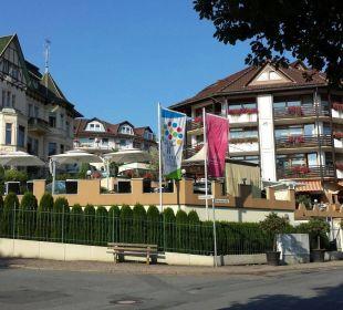 Blick von der Straßenseite Romantischer Winkel SPA & Wellness Resort