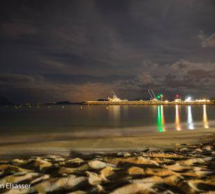 Strand bei Nacht Hotel Baia Caddinas
