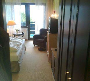 Blick zum Balkon Romantik Hotel Bösehof
