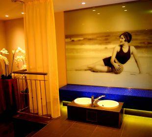 Vorraum der Sauna MONDI-HOLIDAY First-Class Aparthotel Bellevue