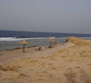 Am Nordende findet sich ein kleiner geheim Strand