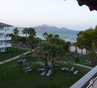 Blick von unserem Balkon auf den Garten u das Meer Aparthotel Esperanza Park