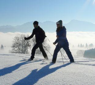 Schneeschuhwandern Ferienwohnungen Berghof Kinker