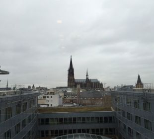 Ausblick von der Etage Dorint Hotel am Heumarkt Köln
