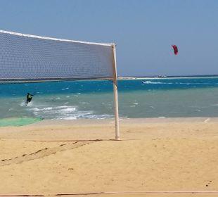 Kiten und Beachvolleyball