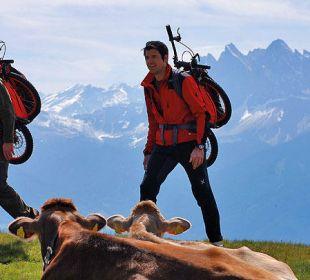 """Wanderung mit dem """"Bergmönch""""-Bike Hotel Taubers Unterwirt"""