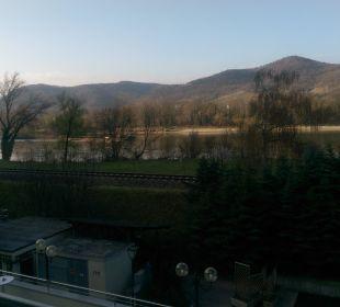 Schöner Ausblick vom Balkon Gartenhotel Pfeffel