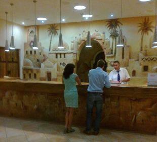 Gemütliche lobby Hotel Safira Palms