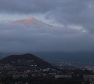 Blick zum Teide bei Sonnenuntergang Hotel Tigaiga