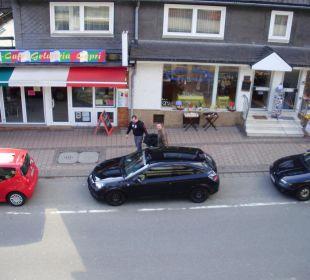 Blick vom Balkon Hotel Willinger Mitte