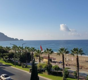Blick vom Balkon Richtung Festung Kleopatra Melissa Hotel