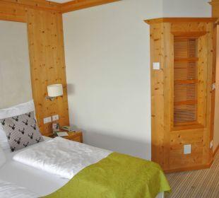 Bett und Flur Hotel Taubers Unterwirt