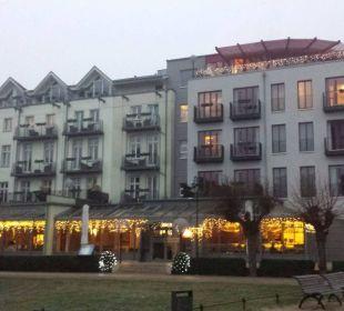 Das Strandhotel in der Abenddämmerung Strandhotel Heringsdorf