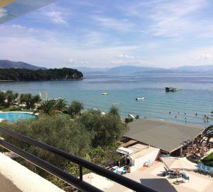 Blick vom Balkon Hotel Elea Beach