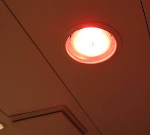 Infrarotheizlampe im Bad