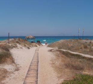 Weg von der Tam Tam Bar zum Strand Hotel Horizon Beach Resort