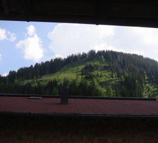 Blick aus Balkon Zimmer Arnika Landhaus Sammer Hotel Garni