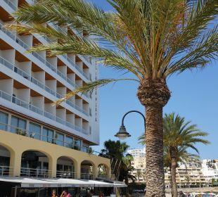 Ganz unten Sushibar/ oben gelbe Rundbögen Hotelbar Hotel Ibiza Playa