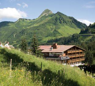 Blick auf das Hotel Madlener Berghotel Madlener