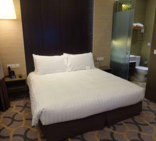 Blick aufs Bett