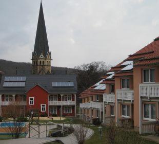 Innenhof Ferienpark Bodetal