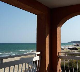 Bild vom Balkon nach Obzor Sol Luna Bay & Mare Resort