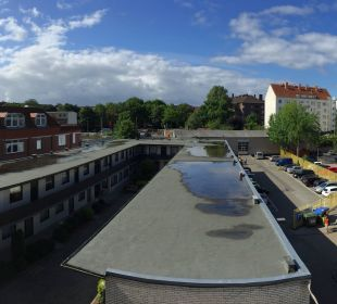 Ausblick auf Rückseite Best Western Hotel Hamburg International