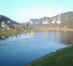 Ausblick bei herrlichem Winterwetter Hotel Elbschlösschen