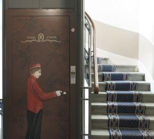 Lift & Treppe  Hotel Europe