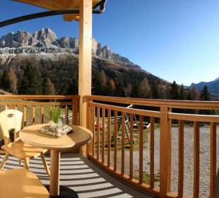 Der Ausblick auf die schönen Dolomiten Alpengasthof Jolanda