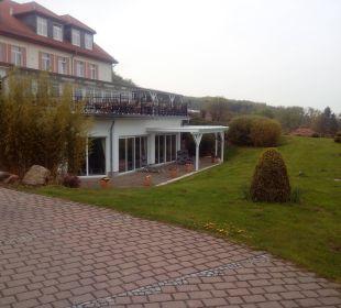 Blick zum Schwimmbad Berghotel Ilsenburg