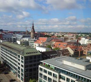 Ausblick Richtung Innenstadt Hotel The Westin Leipzig