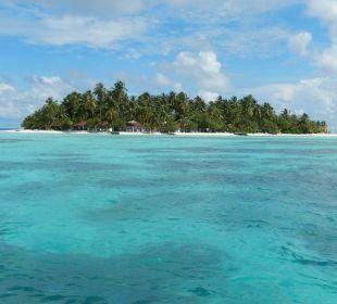 Insel vom Boot aus
