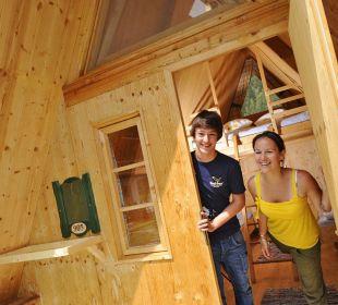 Adventure Hütte für 2 oder 4 Personen feel free Adventure Camp