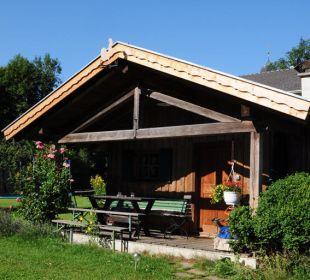 Das Gartenhäuschen für nette Grillabende. Wimmerhof Ising