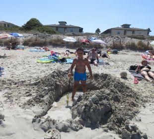 Die Breite des Strandes allsun Hotel Eden Playa