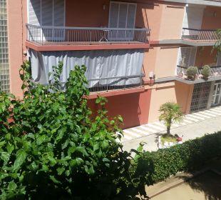 Ausblick aus dem Balkon  Hotel Anabel