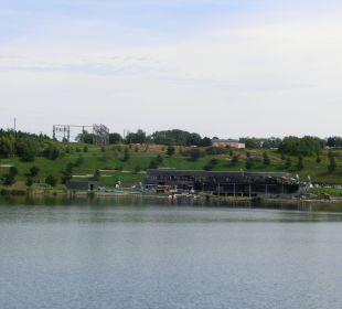 Mit Blick zum Kanupark Seepark Auenhain