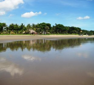 Strand bei Flut Hotel Bali Agung Village