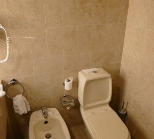 Bidet und Toilette