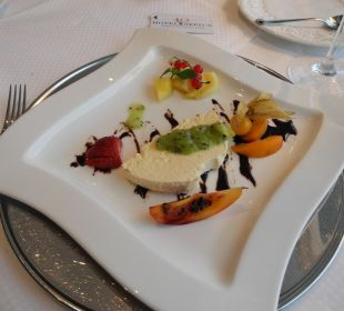 Nachtisch des 3-Gänge-Menüs Hotel Neptun