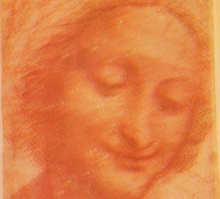 Bild von Leonardo da Vinci im meinem Zimmer Hotel Leonardo Da Vinci